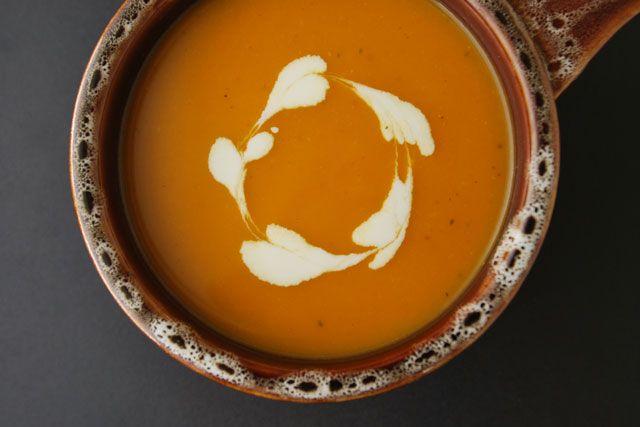 امزش تهیه ی سوپ کدو تنبل بریانی