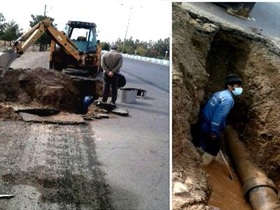 رفع اتفاق شبکه اصلی خط انتقال 250 آزبست در شهر قاین
