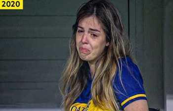دالما دختر مارادونا در غم پدر