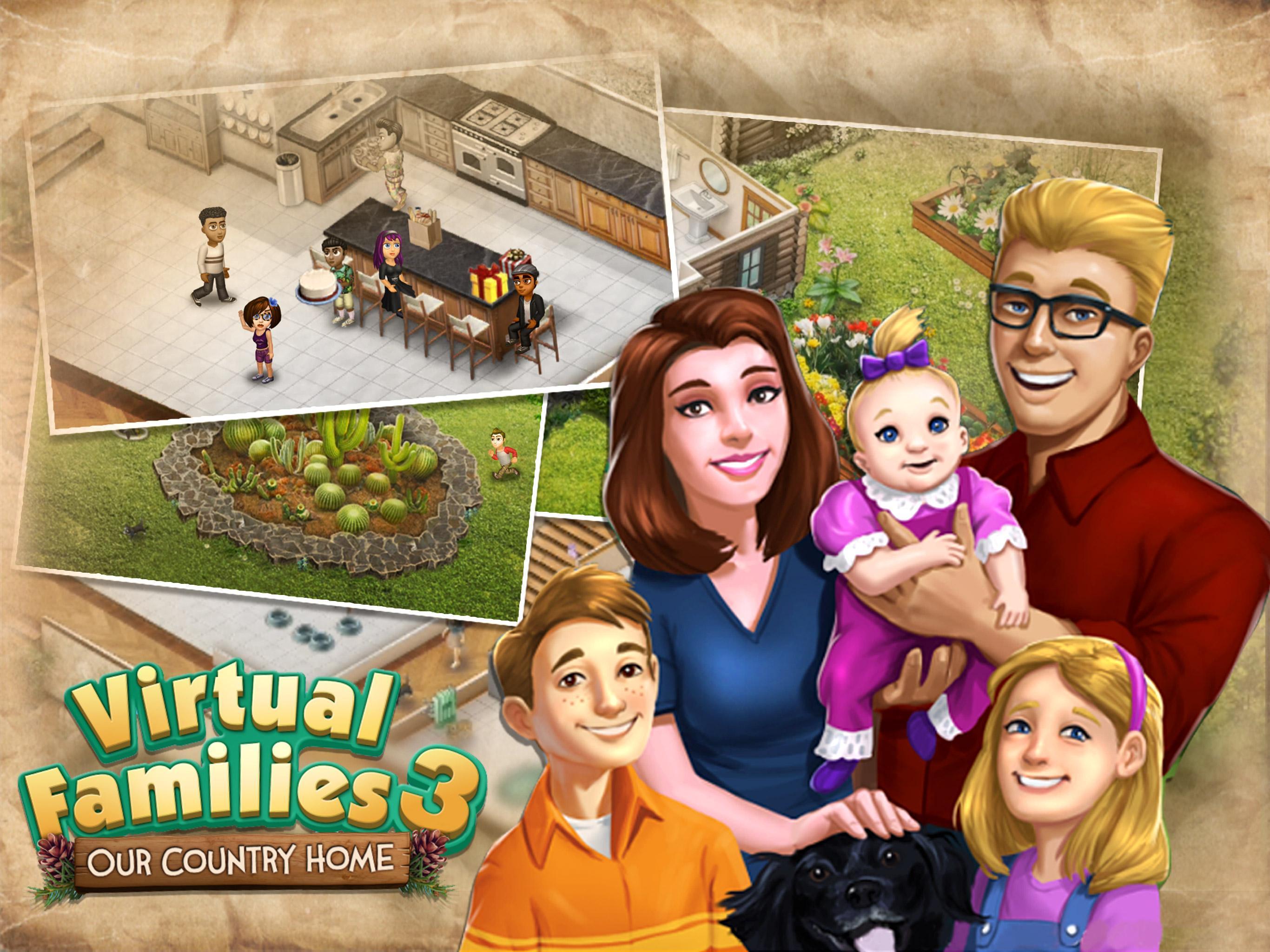 """دانلود Virtual Families 3 1.0.26 – بازی تفننی-مدیریتی """"خانواده مجازی 3"""" اندروید + مود"""