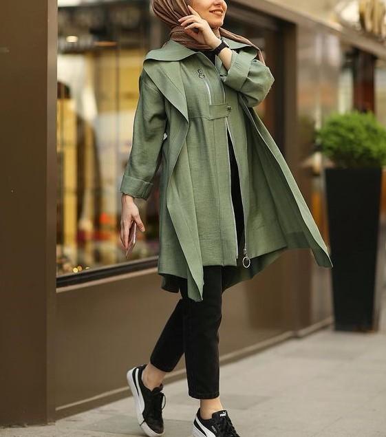 مدل مانتو اسپرت دخترانه پاییزی