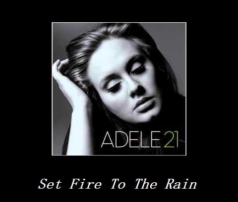 نسخه بیکلام آهنگ Set Fire To The Rain از Adele