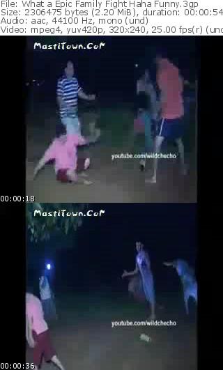 کلیپ خنده دار مبارزه بین یک خانواده در چین