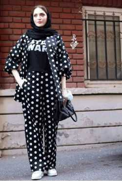 لباس خال خالي بهنوش طباطبايي
