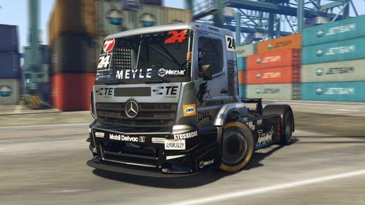 کامیون مرسدنس بنز 2015 حرفه ای برای GTA V