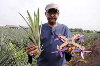 ساخت پهباد با برگ هاي آناناس