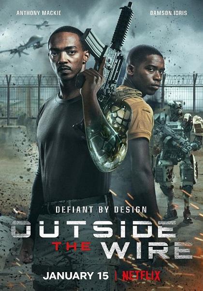 دانلود فیلم خارج از سیم دوبله فارسی Outside the Wire 2021
