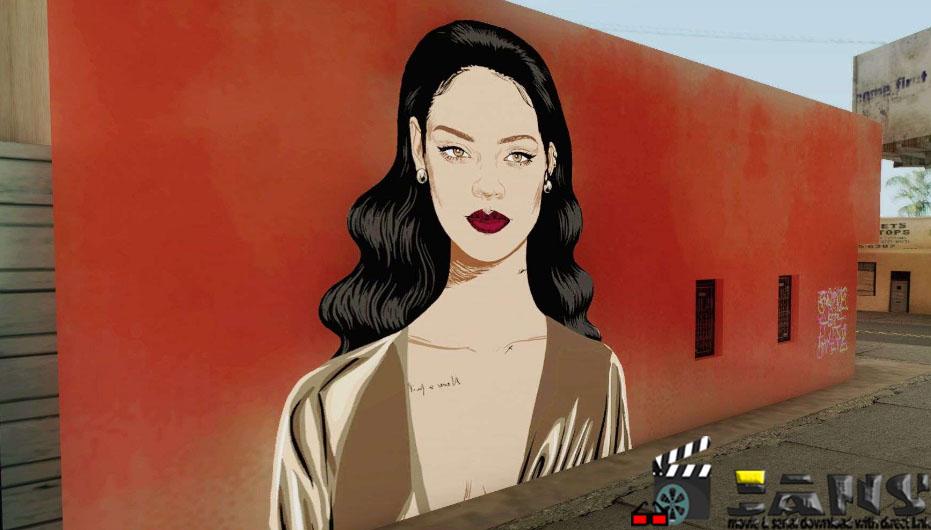 دانلود طرح گرافیتی جدید روی دیوار برای GTA SA