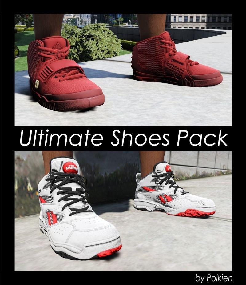 پک کفش های واقعی برای GTA V