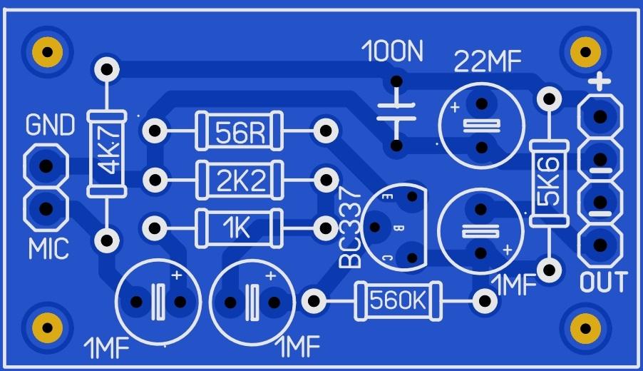 پری میکروفون خازنی برای آمپلی فایر