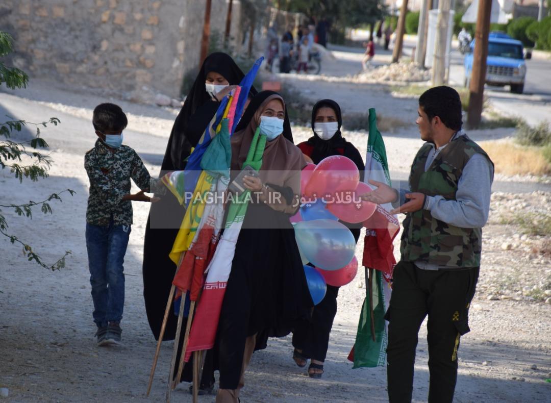 راهپیمایی بزرگ ۲۲ بهمن ۱۳۹۹ در پاقلات به شکل خودرویی و موتوری