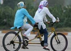 خانم ها کجا دوچرخه سواري کنند؟
