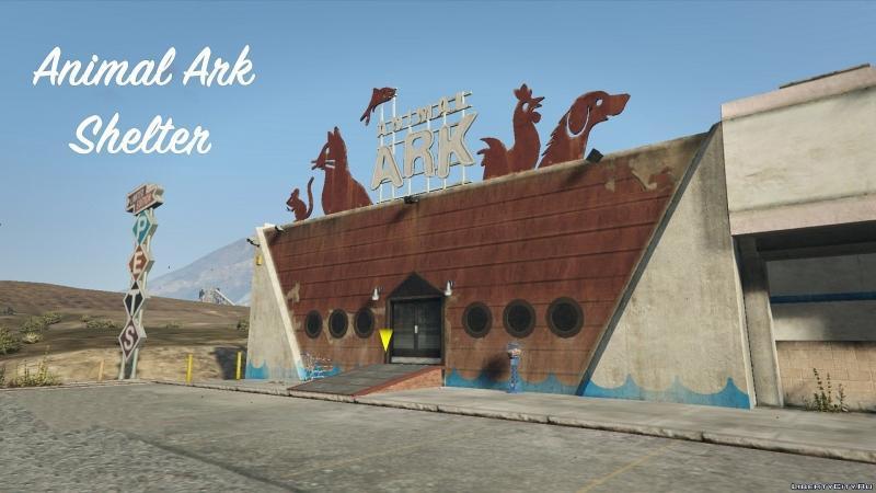 دانلود مود Animal Ark Shelter 1.3 برای Grand Theft Auto V