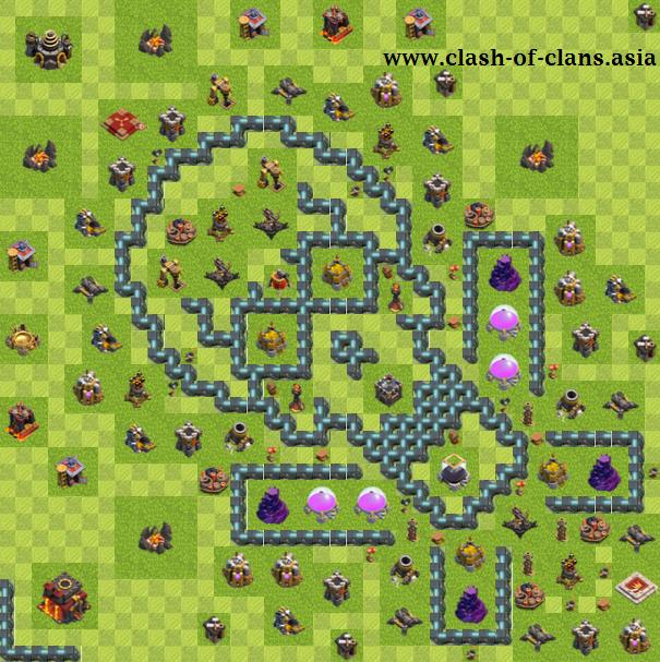 نقشه های برتر کلش آف کلنز برای تاون هال 10