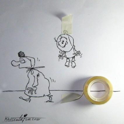 کاریکاتوهای بامزه و دیدنی