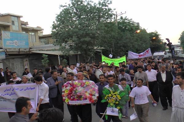 برگزاری مراسم سالروز بمباران شیمایی سردشت + تصاویر