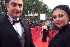 جدیدترین تصاویر نیوشا ضیغمی و همسرش در فستیوال فیلم مسکو!