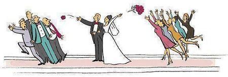 پرتاب دسته گل عروس  ودوماد  طرفه دخترا و پسرا خخخخ