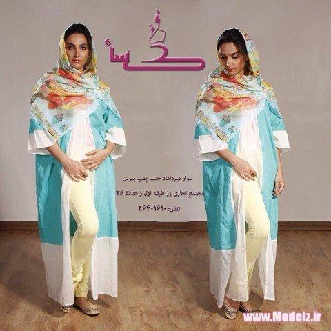 شیک ترین مدل مانتو اسلامی بلند جدید ۲۰۱۵ انواع مدل مانتو با حجاب ایرانی