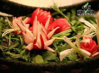 تزئین سبزیجات