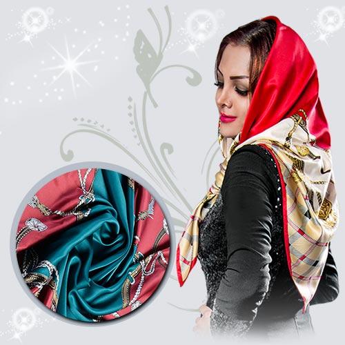 شیک ترین مدل روسری ساتن مایا يك سورپرايز ايده آل برای خانم ها