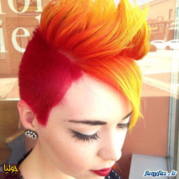 عکس مدل موهای قرمز ناز دخترونه