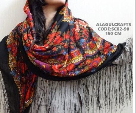 شیک ترین مدل جدید روسری بلند سبک ترکمن ها