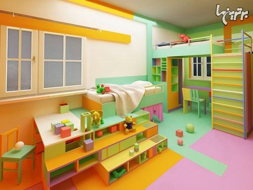 دکوراسیون اتاق کودک با ایده های رنگارنگ