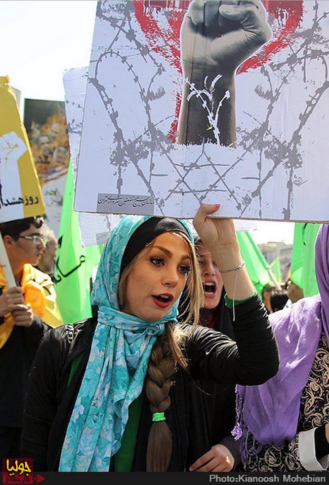عکس های دختران در راهپیمایی روز قدس