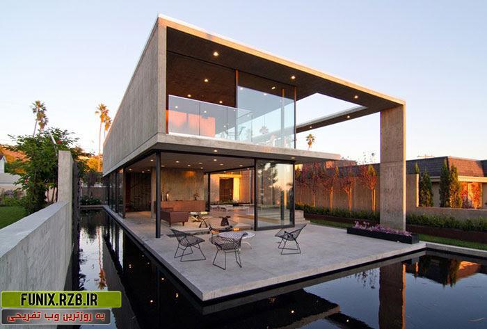 ویلایی لوکس با دیوارهای شیشه ای در سن دیگو کالیفرنیا
