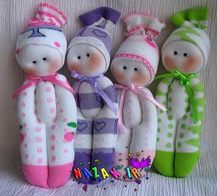 عروسک های جورابی زیبا