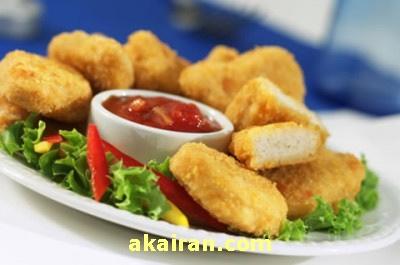 ناگت مرغ با آکا