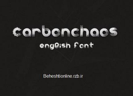 فونت انگلیسی بسیار زیبای Carbonchaos