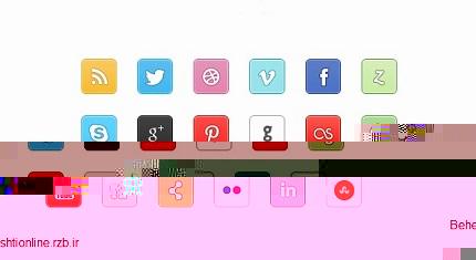 فایل لایه باز آیکونهای شبکههای اجتماعی PX