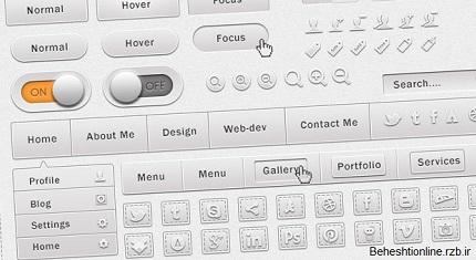 فایل لایه باز UI Kit بسیار زیبای Soft
