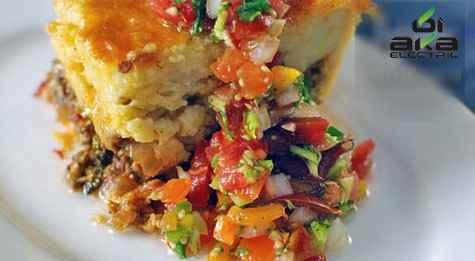 خوراک مکزیکی تمالی تند و خوش رنگ و لعاب