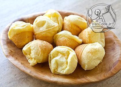 طرز تهیه نان و توپک پنیری