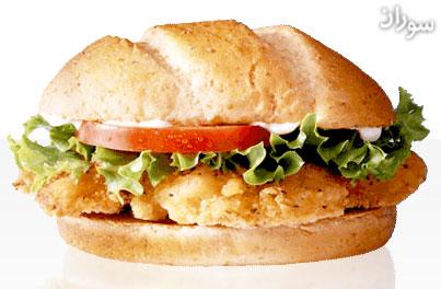 ساندویچ فیله مرغ