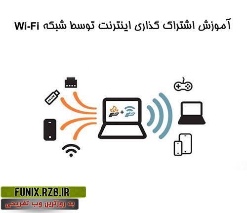 اشتراک اینترنت از طریق WIFI + آموزش تصویری