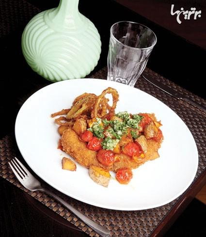 کاربونارا یا همان مرغ سوخاری شکم پُر