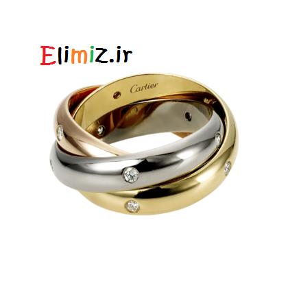 حلقه طلای اصل و شیک