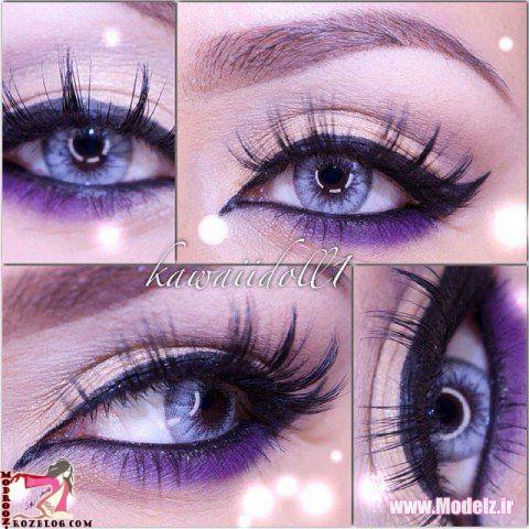 آرایش چشم و لب 2015