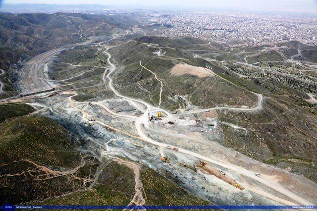 پروژه کمربندی جنوبی مشهد؛گزارش تصویری
