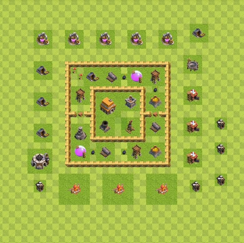نقشه تاون هال پنج کلاش اف کلنز