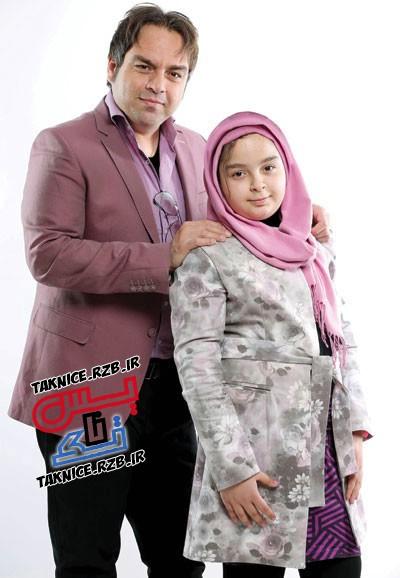 تک عکس شهرام قائدی و دخترش