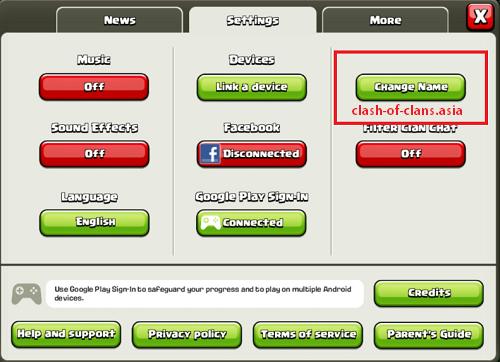 آموزش تغییر اسم در ورژن جدید clash of clans