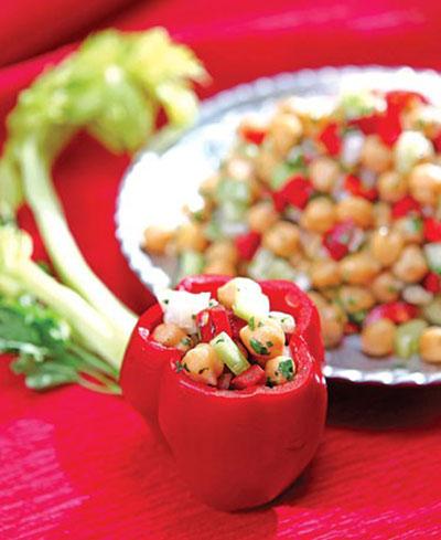 طرز تهیه دلمه نخود و سبزیجات , غذاي رژیمی