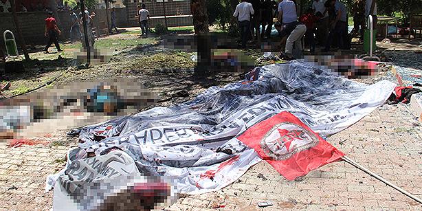 در حملۀ سوروچ HDP و MHP مورد هدف قرار گرفتند