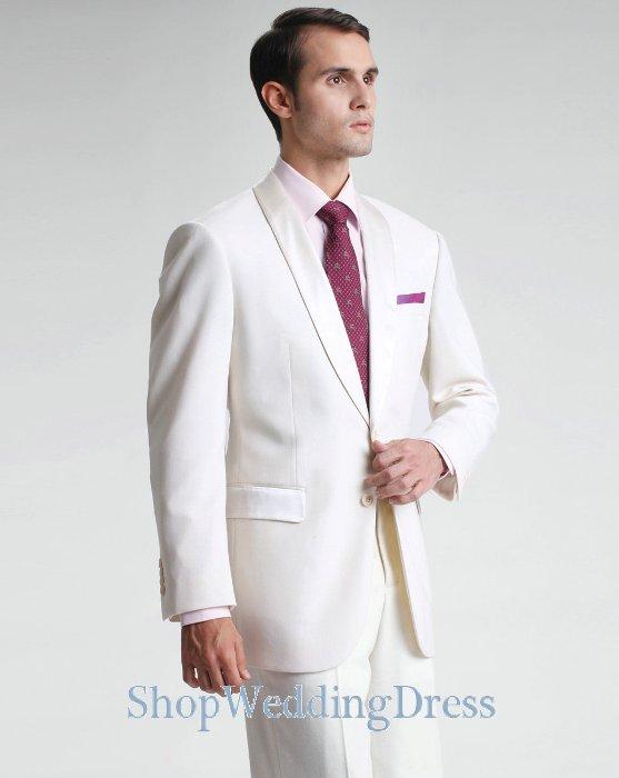 مدلهای جدید کت و شلوار مردانه رنگ سفید