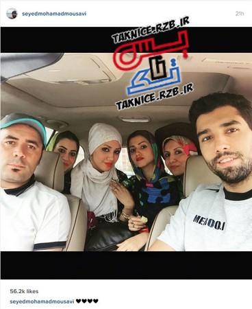 عکس های سلفی خانوادگی سیدمحمد موسوی دراینستاگرام